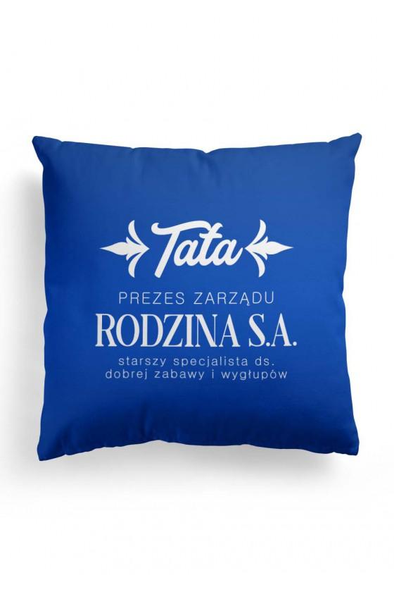Poduszka Premium Tata Prezes Zarządu Rodzina S.A. - niebieska