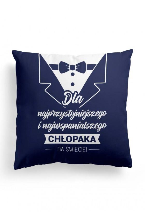 Poduszka Premium dla najprzystojniejszego chłopaka (granatowa)