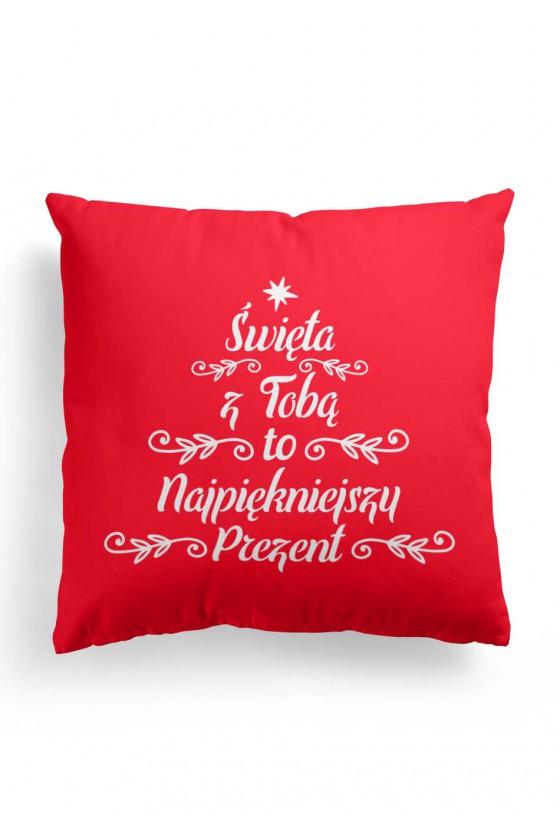 Poduszka Premium Prezent Świąteczny Święta z Tobą to najpiękniejszy prezent