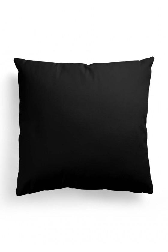 Poduszka Premium Dzień Dobry Kocham Cię - czarna
