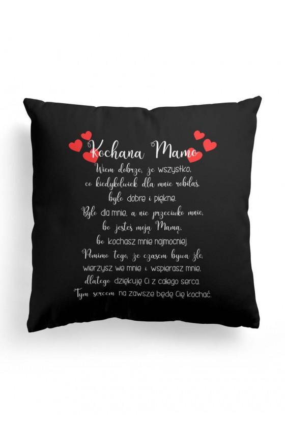 Poduszka Premium dla Ukochanej Mamy z wyznaniem (czarna)