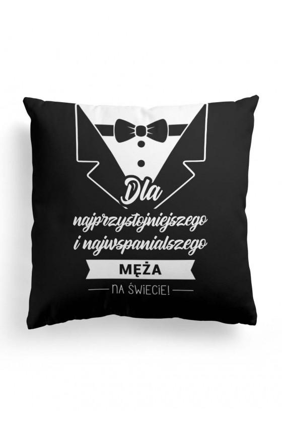 Poduszka Premium dla męża przystojniaka (czarna)