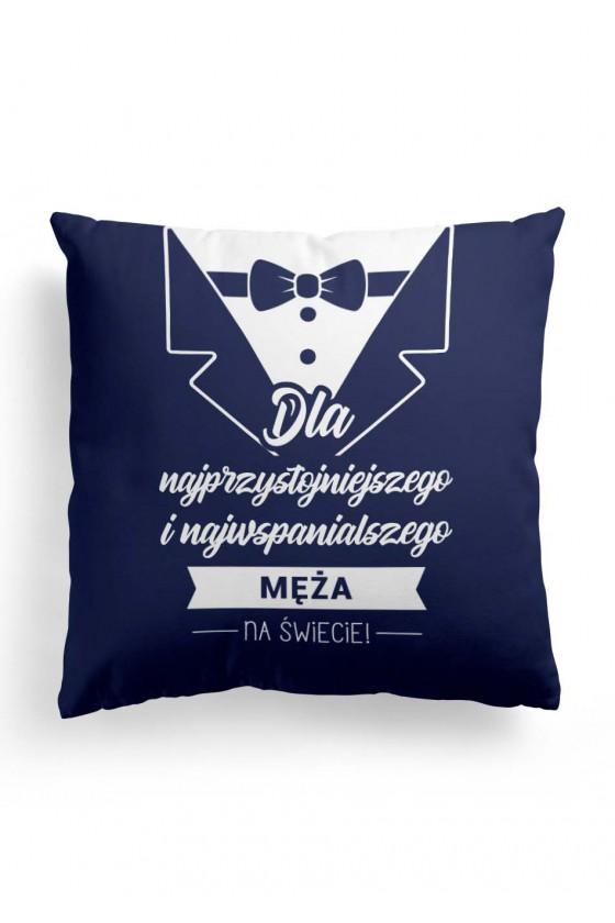 Poduszka Premium dla najprzystojniejszego męża (granatowa)