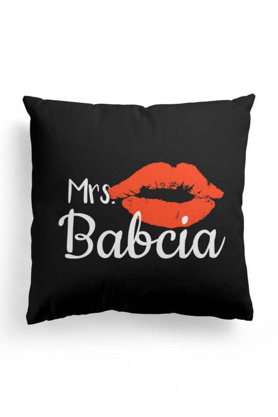Poduszka Premium z napisem Mrs Babcia (czarna)