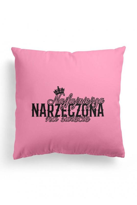 Poduszka Premium Różowa Najfajniejsza Narzeczona na świecie