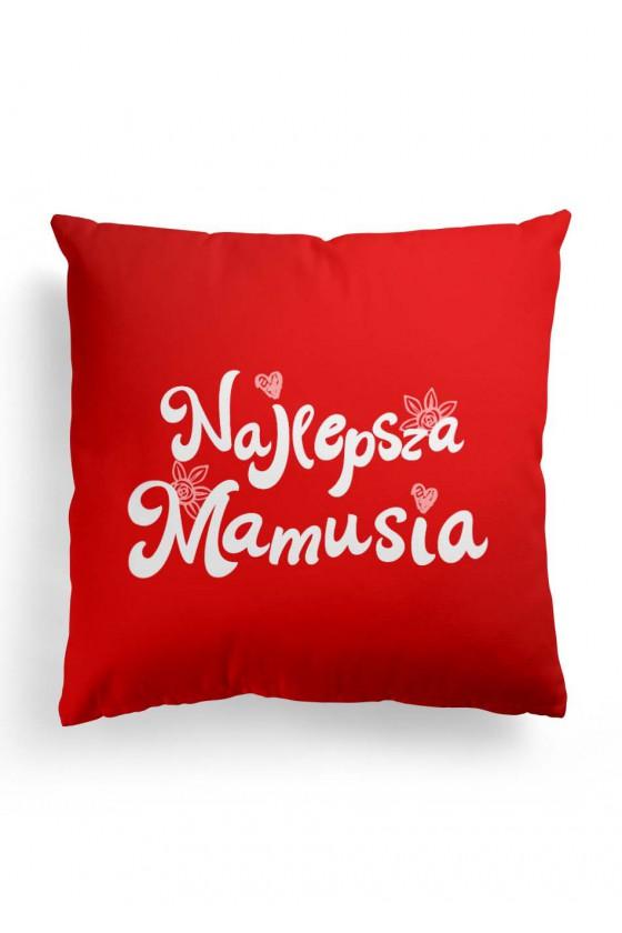 Poduszka Premium z napisem Najlepsza Mamusia - dla mamy - czerwona