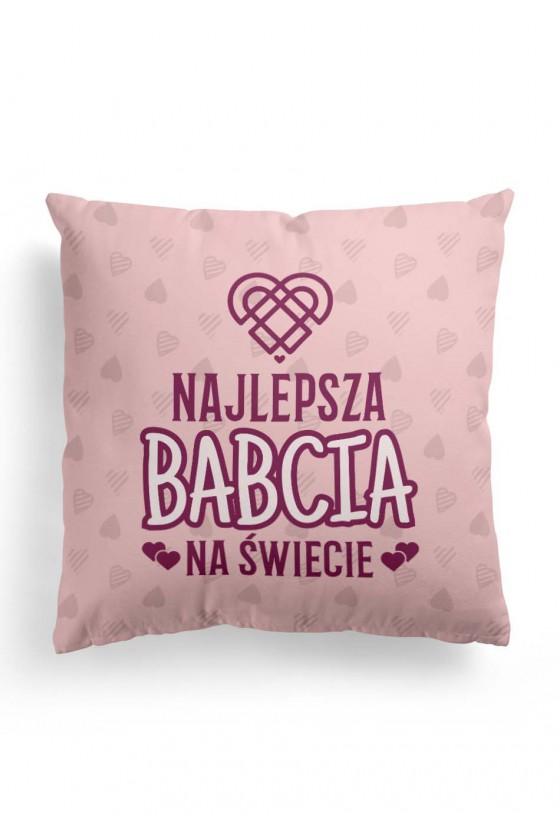 Poduszka Premium Różowa Najlepsza Babcia na świecie