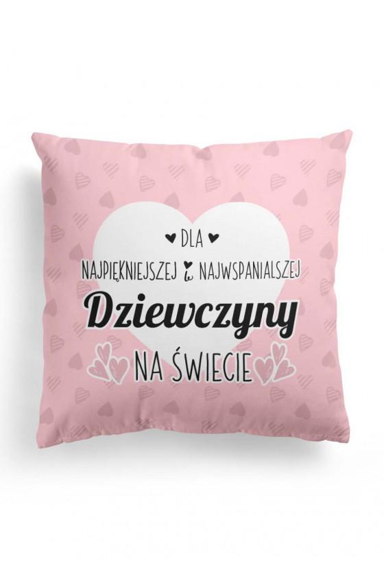 Poduszka Premium Śliczna dla Dziewczyny (różowa)