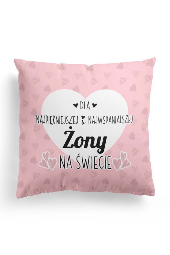 Poduszka Premium z napisem dla żony (różowa)