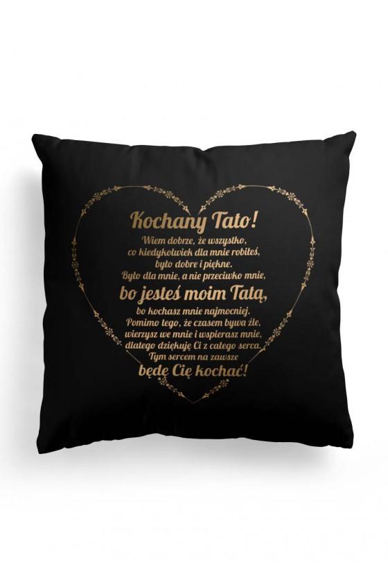 Poduszka Premium dla Taty z okazji Dnia Taty - czerń, złoto