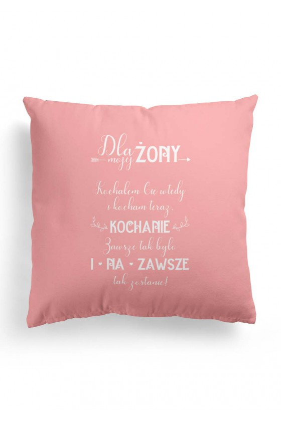 Poduszka Premium Prezent dla Żony (róż)