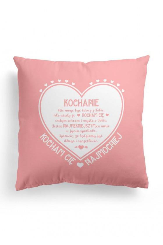 Poduszka Premium z pięknym napisem na Walentynki (różowa)