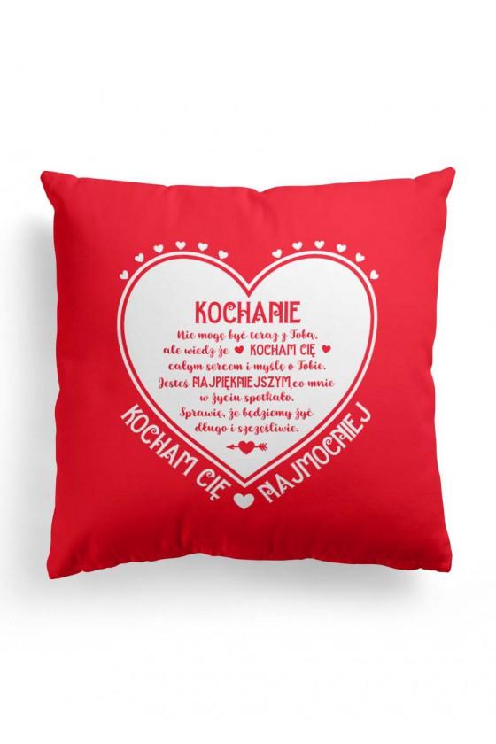 Poduszka Premium z pięknym napisem na Walentynki (czerwona)