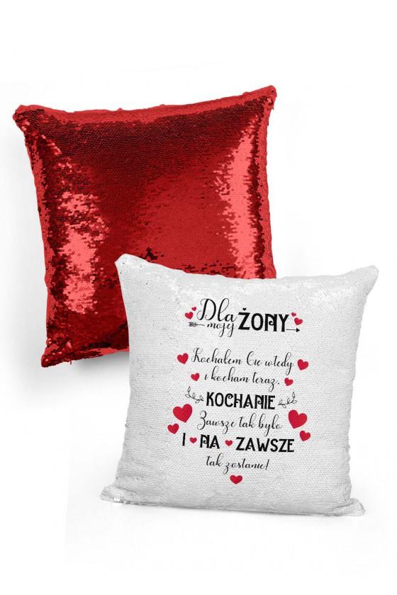 Poduszka cekinowa dla żony Kochałem cię wtedy