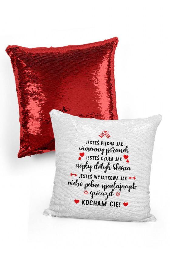 Poduszka cekinowa dla ukochanej Jesteś piękna jak...
