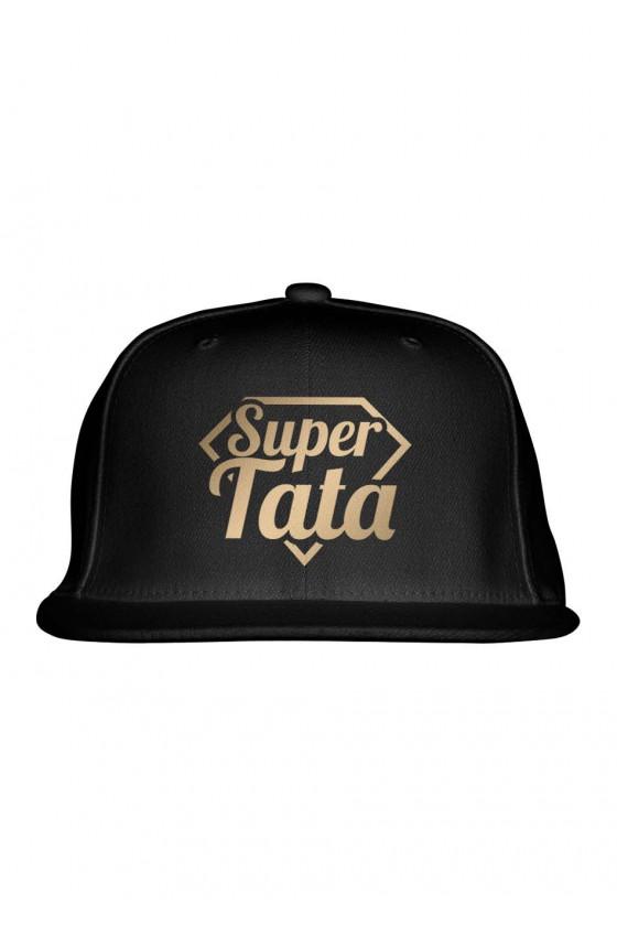 Czapka Snapback dla Taty Super Tata - złote