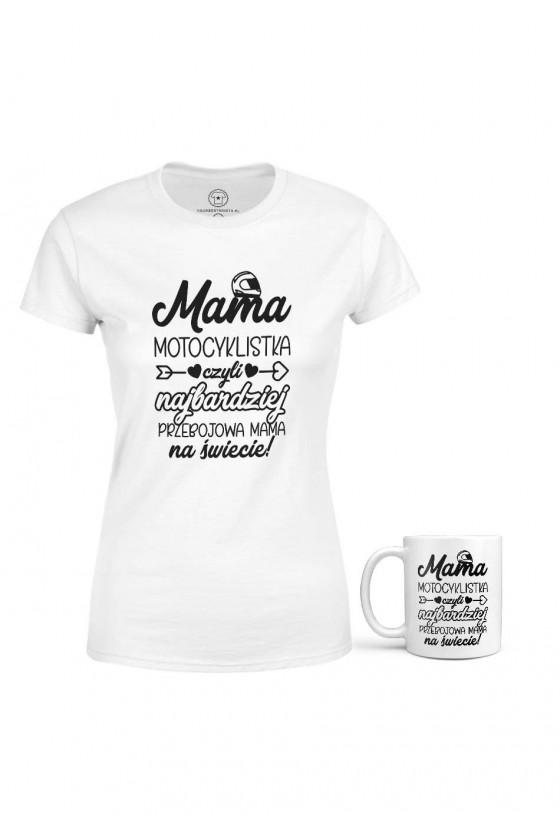Zestaw Zawodowej Mamy - Koszulka + Kubek - Motocyklistka