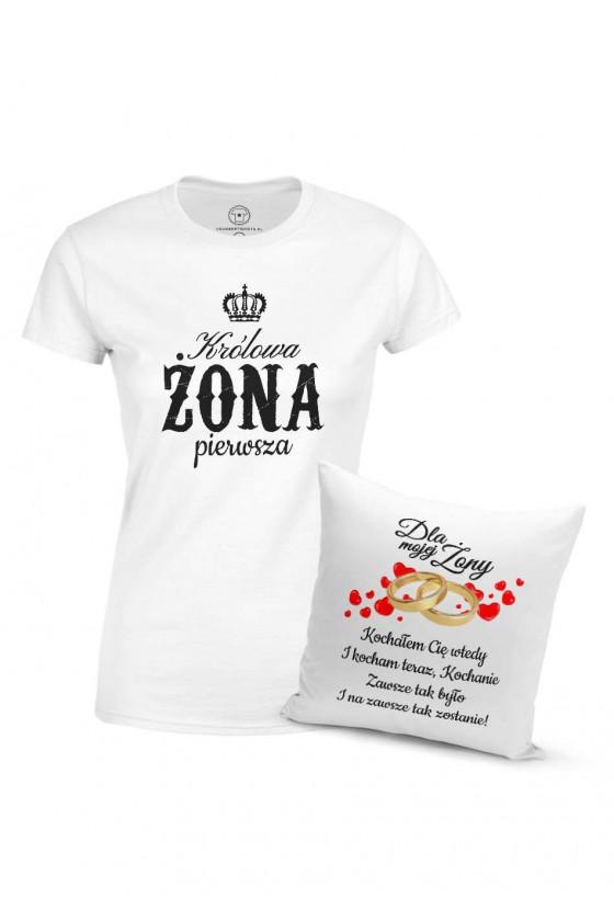 Pakiet Świąteczny 2 - Podusia I Koszulka Dla Ukochanej Żony