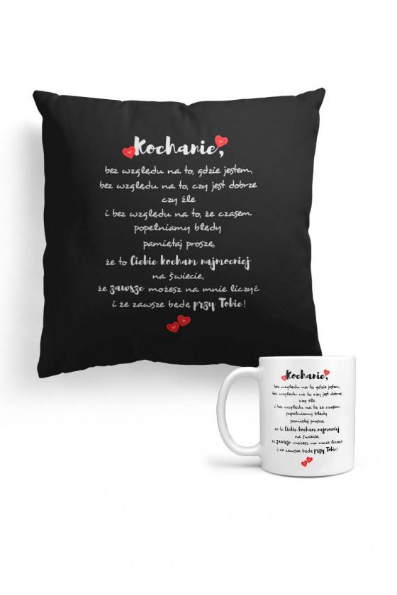 Pakiet Prezentowy - Czarna Poduszka I Kubek Z Miłosnym Wyznaniem