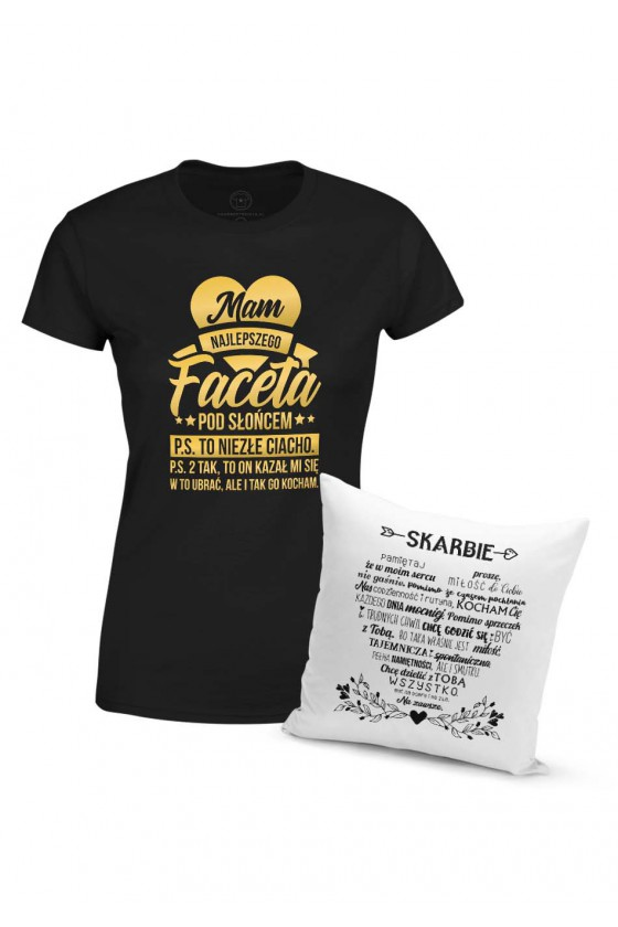 Dla Dziewczyny - Miłosny Zestaw Na Prezent Koszulka + Poduszka
