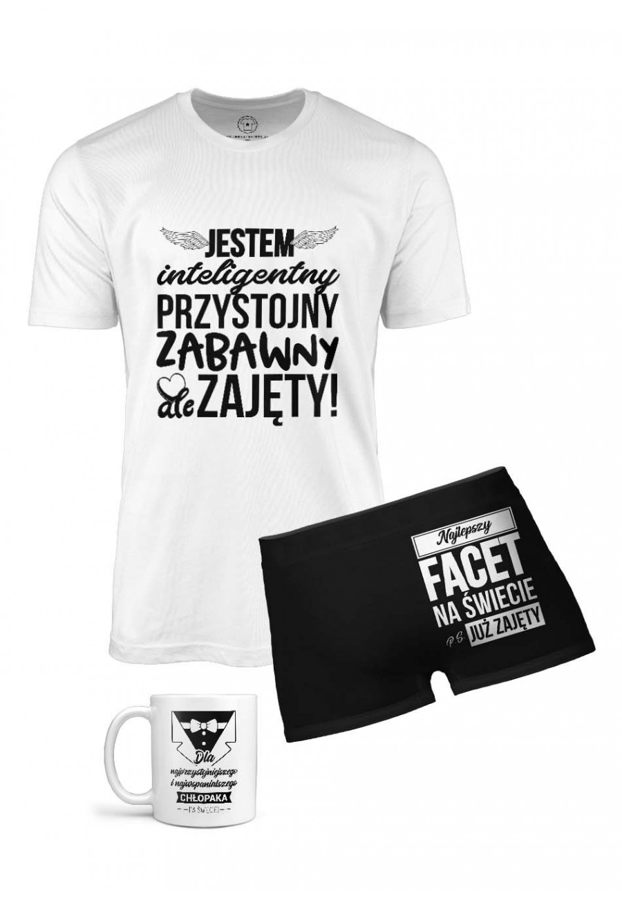 Zestaw Koszulka Bokserki Kubek Dla Chłopaka