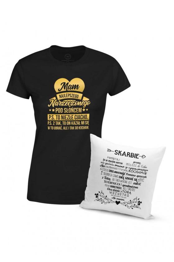 Dla Narzeczonej - Miłosny Zestaw Na Prezent Koszulka + Poduszka