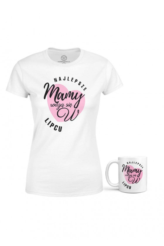 Koszulka + Kubek - Najlepsze Mamy Rodzą Się W Lipcu