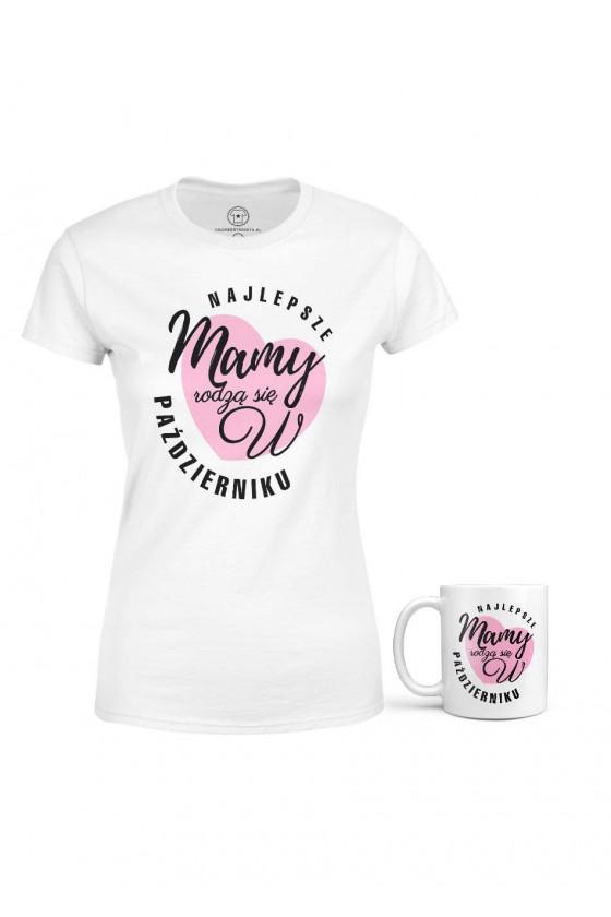Koszulka + Kubek - Najlepsze Mamy Rodzą Się W Październiku 2