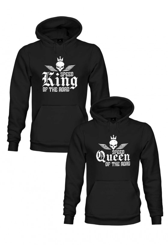Zestaw Bluz Dla Pary Motocyklistów - King & Queen Of The Road