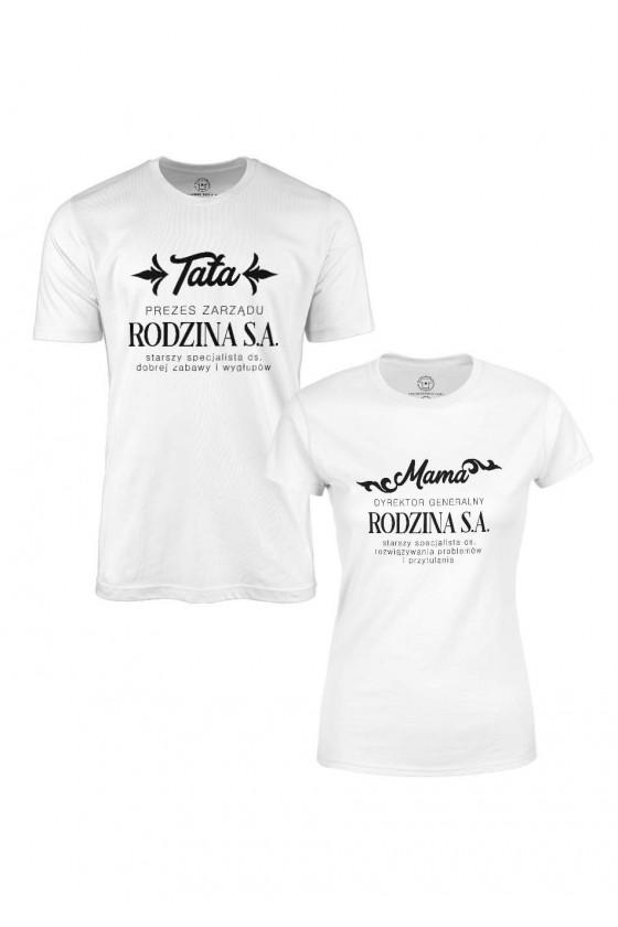 Zestaw koszulek dla Rodziców - Mama i Tata Rodzina S.A.