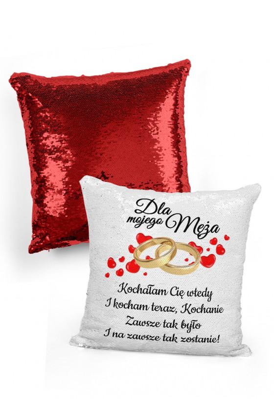 Poduszka cekinowa na prezent dla Męża