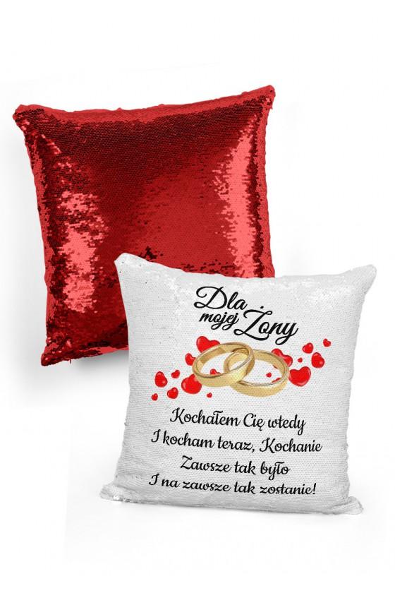 Poduszka cekinowa na prezent dla Żony