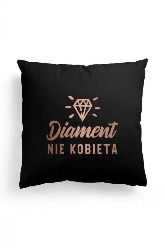Poduszka Premium Diament nie Kobieta Czarna