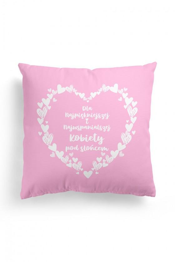 Poduszka Premium Dla Najpiękniejszej Kobiety Różowa