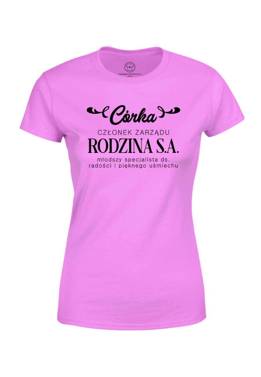 Koszulka damska Dla córki Córka Członek Zarządu Rodzina S.A.