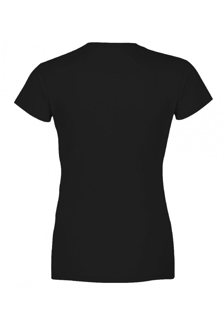 Koszulka damska Z napisem Czasem spoglądam na mojego męża i myślę sobie: ten to ma szczęście!