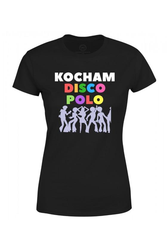 Koszulka damska Z nadrukiem kocham disco polo