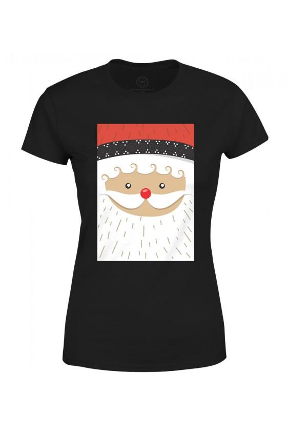 Koszulka damska Z nadrukiem mikołaja
