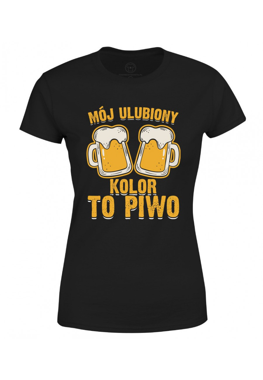 Koszulka damska Mój ulubiony kolor to piwo