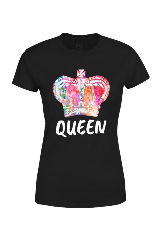 Koszulka damska Dla Par z napisem Queen 2