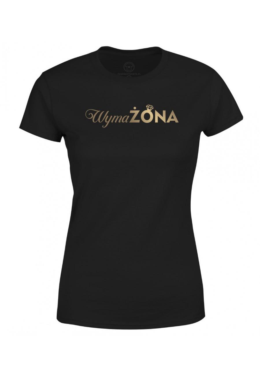 Koszulka damska Z napisem WymaŻona