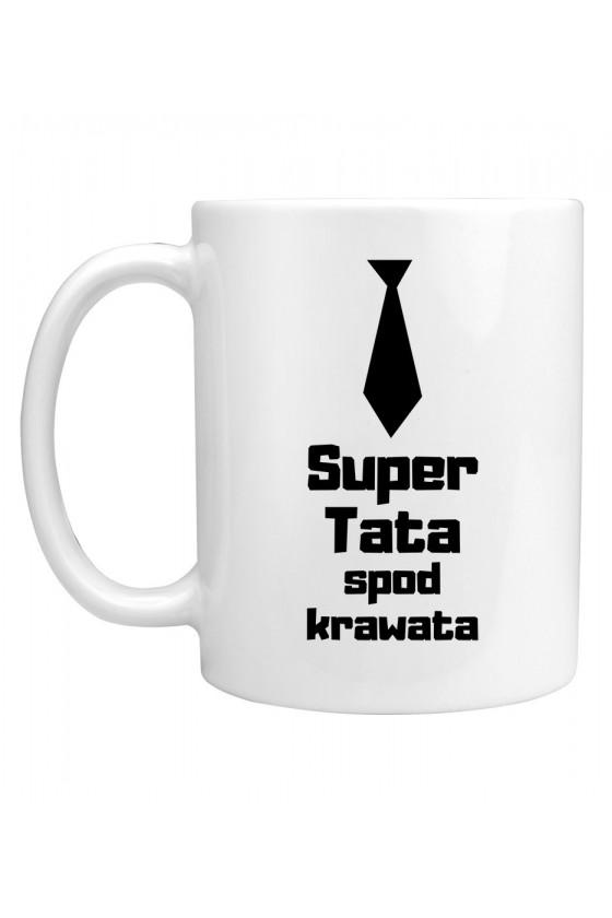 Kubek Z napisem Super Tata spod krawata