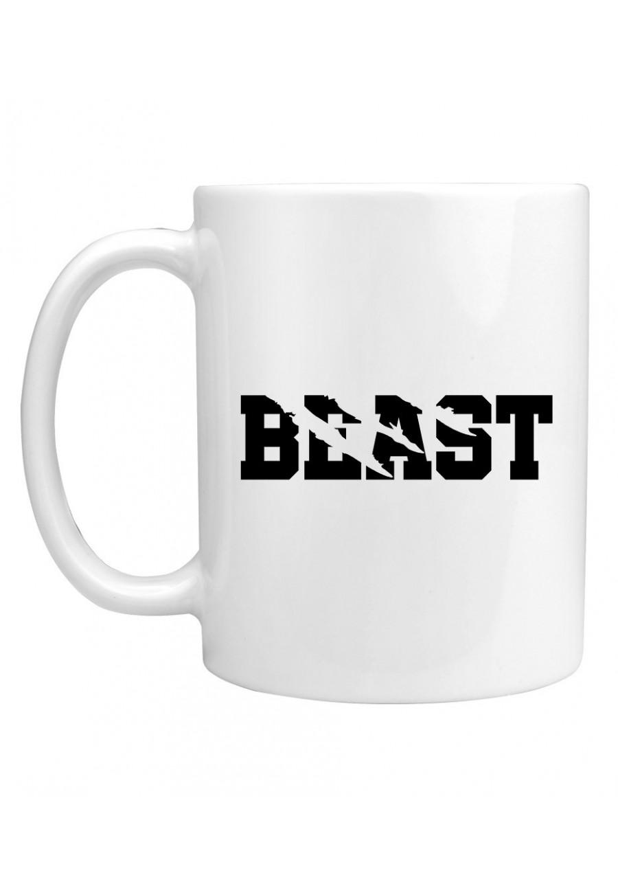 Kubek Dla Par z napisem Beast