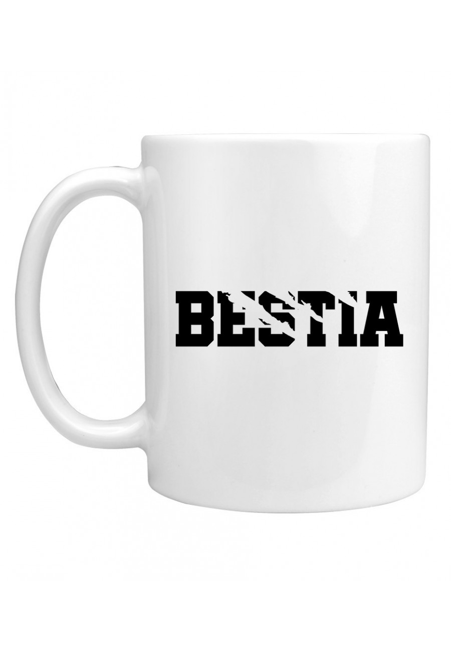 Kubek Dla Par z napisem Bestia