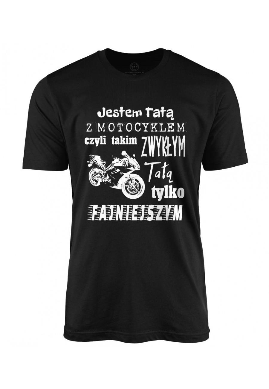 Koszulka męska Jestem Tatą z Motocyklem 2