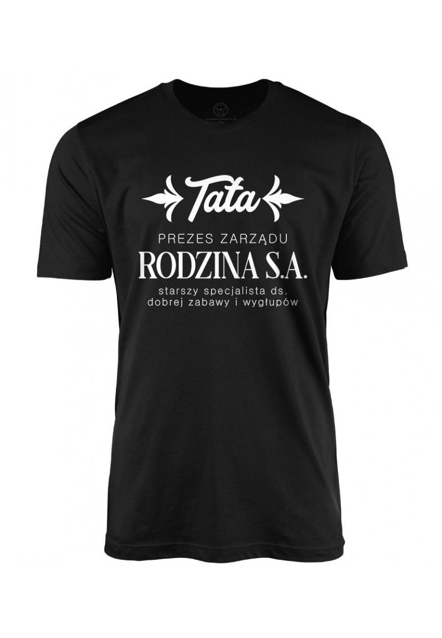 Koszulka męska TATA - PREZES ZARZĄDU RODZINA S.A.