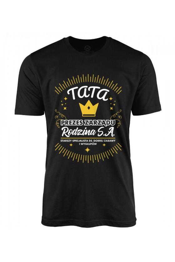 Koszulka męska Tata Prezes Zarządu Rodzina S.A. - wersja 2