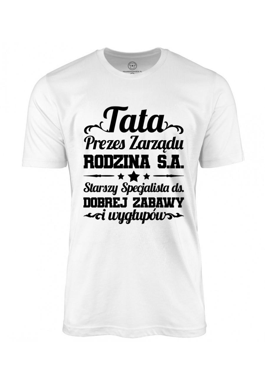Koszulka męska Prezent na dzień ojca Koszulka Tata Prezes Zarządu Rodzina S.A. 2020