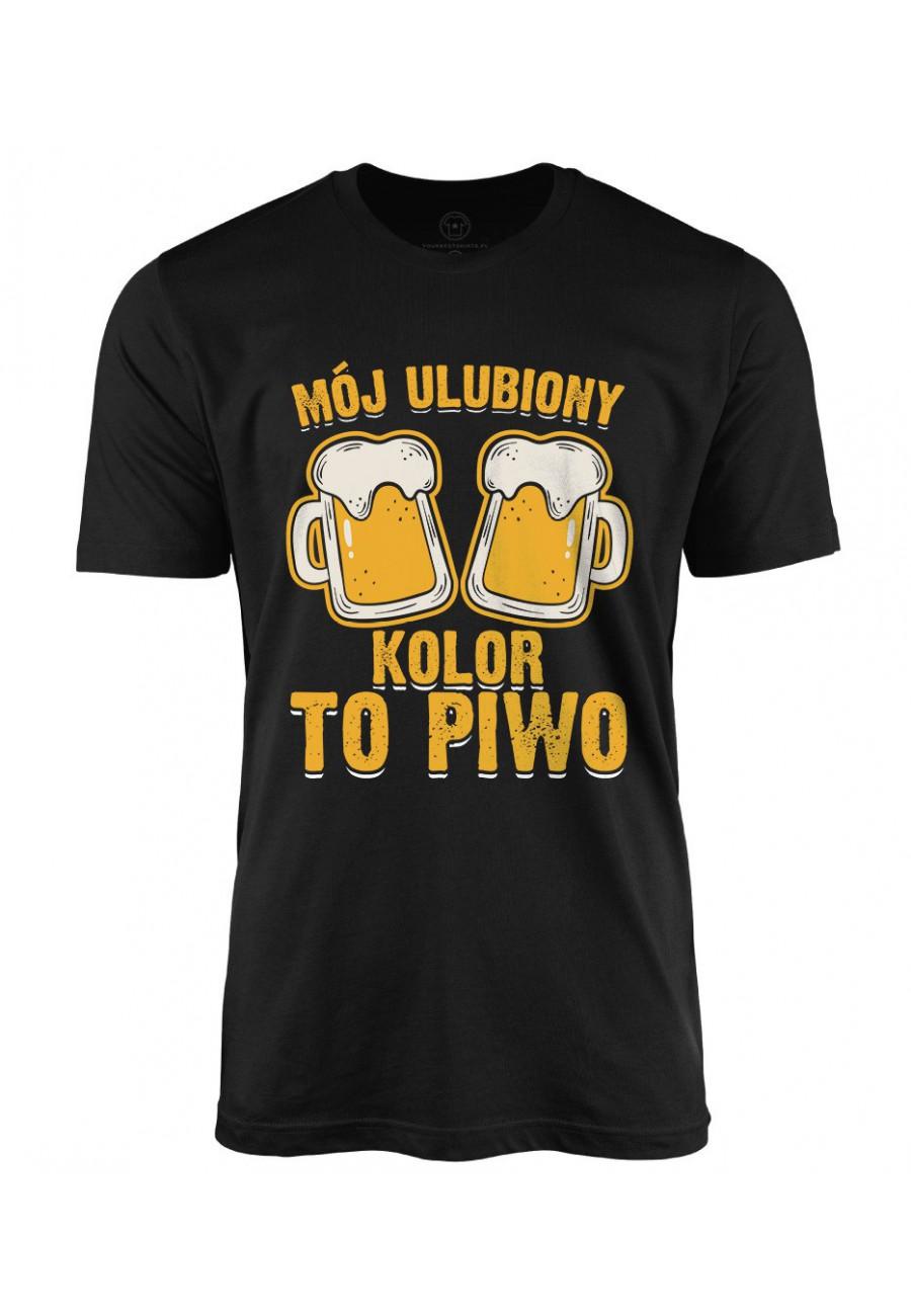 Koszulka męska Mój ulubiony kolor to piwo