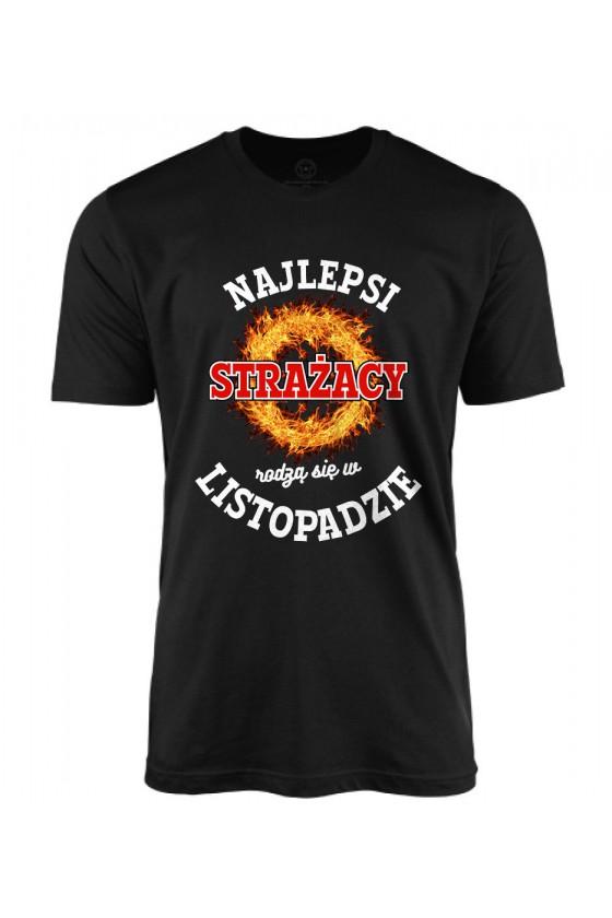 Koszulka męska Najlepsi Strażacy rodzą się w listopadzie